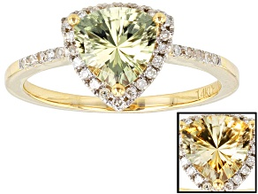 Pre-Owned Color Change Zultanite® 14k Yellow Gold Ring 1.14ctw