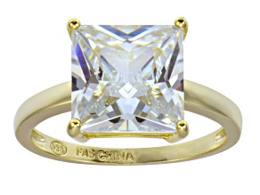 Pre-Owned Bella Luce 9.00ct 18k Yellow Gold Over Sterling Silver Solitaire Ring