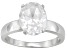 Pre-Owned Bella Luce® 5.40ct Oval Rhodium Over Sterling Silver Solitaire Ring