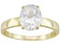 Pre-Owned Bella Luce® 5.40ct Oval 18k Yellow Gold Over Sterling Silver Solitaire Ring