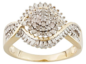Pre-Owned Diamond 10k Yellow Gold Ring .50ctw
