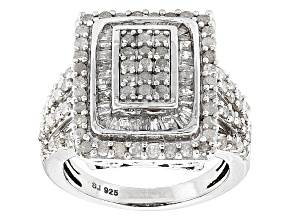 Pre-Owned Diamond Silver Ring 1.90ctw