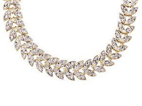 Pre-Owned Diamond 18k Gold Over Brass Necklace 1.00ctw