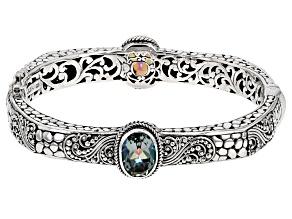Pre-Owned Aloha Green™ Mystic Quartz® Silver Bracelet 5.62ctw
