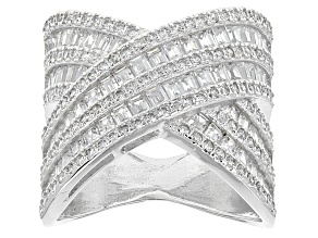Pre-Owned White Cubic Zirconia Sterling Silver Ring 4.65ctw