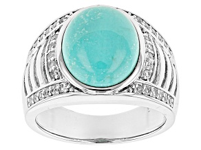 Pre-Owned Blue Sleeping Beauty Turquoise Sterling Silver Ring .42ctw