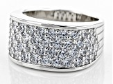 Pre-Owned Cubic Zironia Silver Ring 3.47ctw (1.82ctw DEW)
