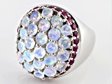 Pre-Owned Ethiopian Opal Sterling Silver Ring 2.65ctw