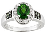Pre-Owned Green Chrome Diopside Sterling Silver Ring 1.50ctw