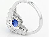 Pre-Owned Blue Nepalese Kyanite Sterling Silver Ring 2.57ctw