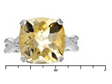 Pre-Owned Yellow Citrine Sterling Silver Ring 6.50ct