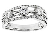Pre-Owned Moissanite Platineve Ring 1.17ctw DEW