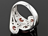 Pre-Owned Pink Peruvian Opal Sterling Silver Ring .21ctw