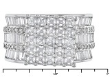 Pre-Owned White Cubic Zirconia Rhodium Over Silver Ring 6.79ctw