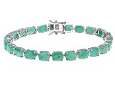 Pre-Owned Green Emerald Sterling Silver Bracelet 24.27ctw