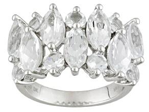 Pre-Owned White Goshenite Sterling Silver Ring. 3.60ctw