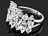 Pre-Owned White Goshenite Sterling Silver Ring. 3.60ctw