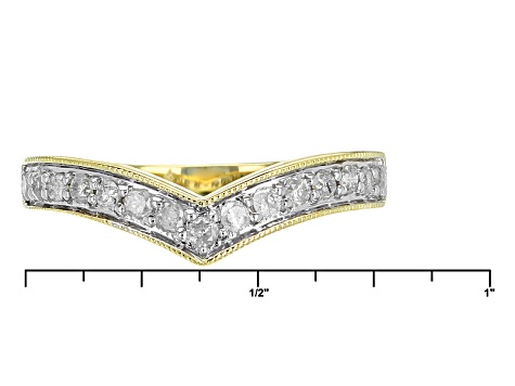 Pre-Owned White Diamond 10k Yellow Gold Ring .27ctw