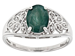 Pre-Owned Green Grandidierite Sterling Silver Ring 1.26ctw