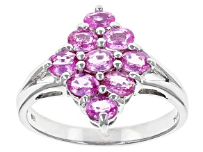 Pre-Owned Pink Ceylon Sapphire Sterling Silver Ring 1.27ctw