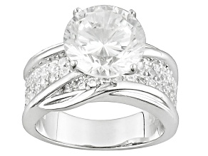 Pre-Owned Cubic Zirconia Rhodium Over Sterling Silver Ring 7.16ctw