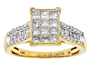 Pre-Owned White Diamond 14k Yellow Gold 1.00ctw