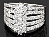 Pre-Owned White Cubic Zirconia Sterling Silver Ring 3.81ctw