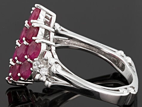 Pre-Owned Mahaleo Ruby Sterling Silver Ring 3.47ctw