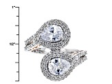 Pre-Owned Cubic Zirconia Silver And 18k Rose Gold Over Silver Ring 5.74ctw (3.58ctw DEW)