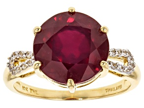 Pre-Owned Mahaleo Ruby 10k Yellow Gold Ring 6.58ctw