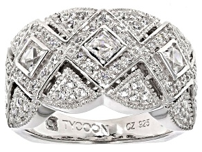 Pre-Owned White Cubic Zirconia Platineve Ring 1.48ctw