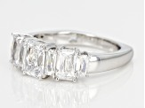 Pre-Owned White Cubic Zirconia Platineve Ring 4.17ctw
