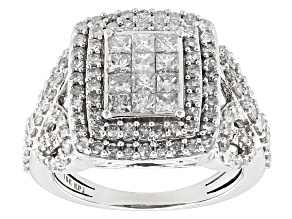 Pre-Owned Diamond 10k White Gold Ring 1.75ctw