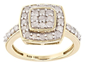 Pre-Owned White Diamond 10k Yellow Gold Ring .75ctw