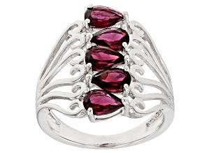 Pre-Owned Purple Rhodolite Sterling Silver Ring. 2.38ctw