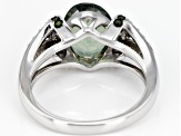 Pre-Owned Green Labradorite Sterling Silver Ring 2.39ctw