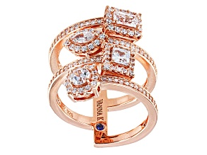 Pre-Owned Cubic Zirconia 18k Rose Gold Over Silver Ring 2.46ctw (1.59ctw DEW)