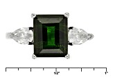 Pre-Owned Green Russian Chrome Diopside Sterling Silver Ring 4.83ctw