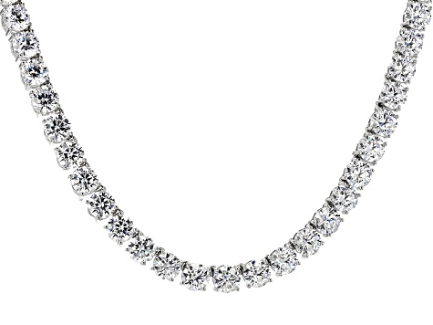 Pre-Owned Cubic Zirconia Silver Necklace 100.00ctw