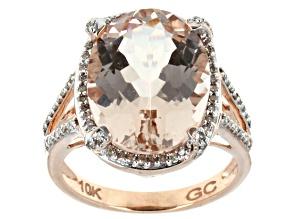 Pre-Owned Pink Morganite 10k Rose Gold Ring 7.83ctw.