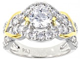 Pre-Owned Bella Luce 2.92ctw Cubic Zirconia 18k Yellow Gold Over .925 Sterling Silver Ring