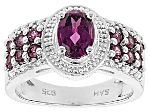 Pre-Owned Purple Rhodolite Sterling Silver Ring 1.48ctw