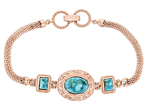 Pre-Owned Blue Turquoise Copper Bracelet
