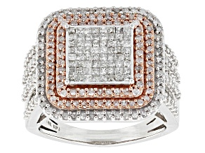 Pre-Owned Diamond 10k Two-Tone Gold Ring 1.50ctw