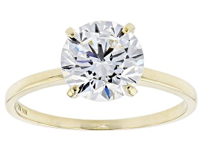 Pre-Owned White Cubic Zirconia 10k Yellow Gold Ring 3.29ctw
