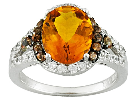 Pre-Owned Orange Brazilian Madeira Citrine Sterling Silver Ring 2.59ctw