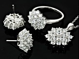 Pre-Owned Cubic Zirconia Sterling Silver Jewelry Set 8.64ctw