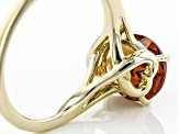 Pre-Owned Red Color Shift Garnet 10k Yellow Gold Ring 2.61ct