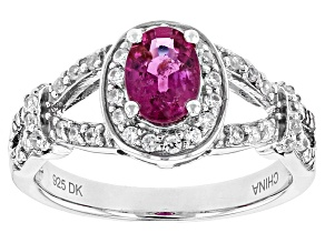 Pre-Owned Pink Rubellite Tourmaline Sterling Silver Ring 1.00ctw