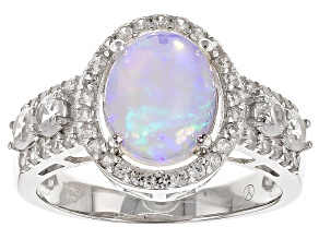 Pre-Owned Ethiopian Opal Sterling Silver Ring 2.75ctw